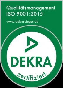 Uni-Cardan® Dekra ISO 9001:2015 Siegel